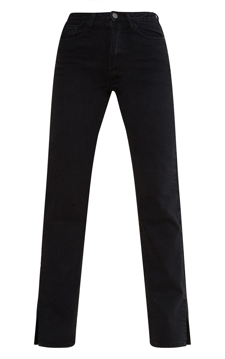 Tall Black Split Hem Jeans 5