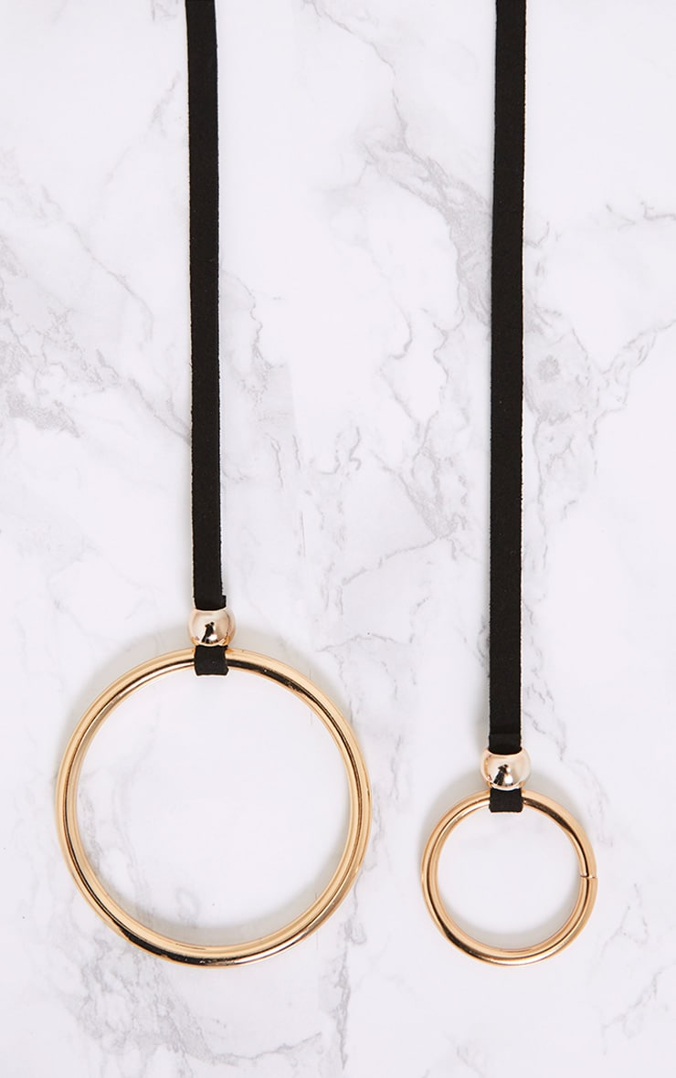 Emillie Black Oversize Ring And Drop Ring Belt 5