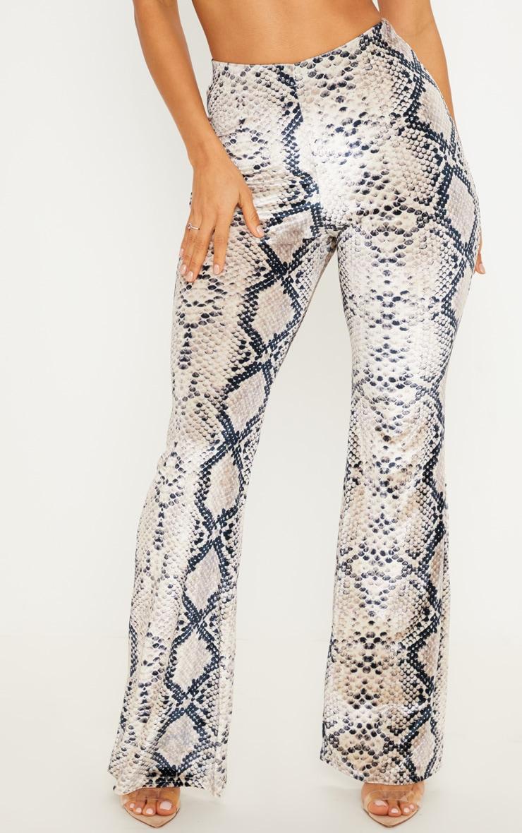 Snake Velvet Printed Flared Trouser 2