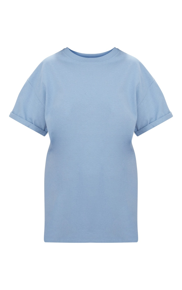 Dusky Blue Oversized Boyfriend T Shirt 3