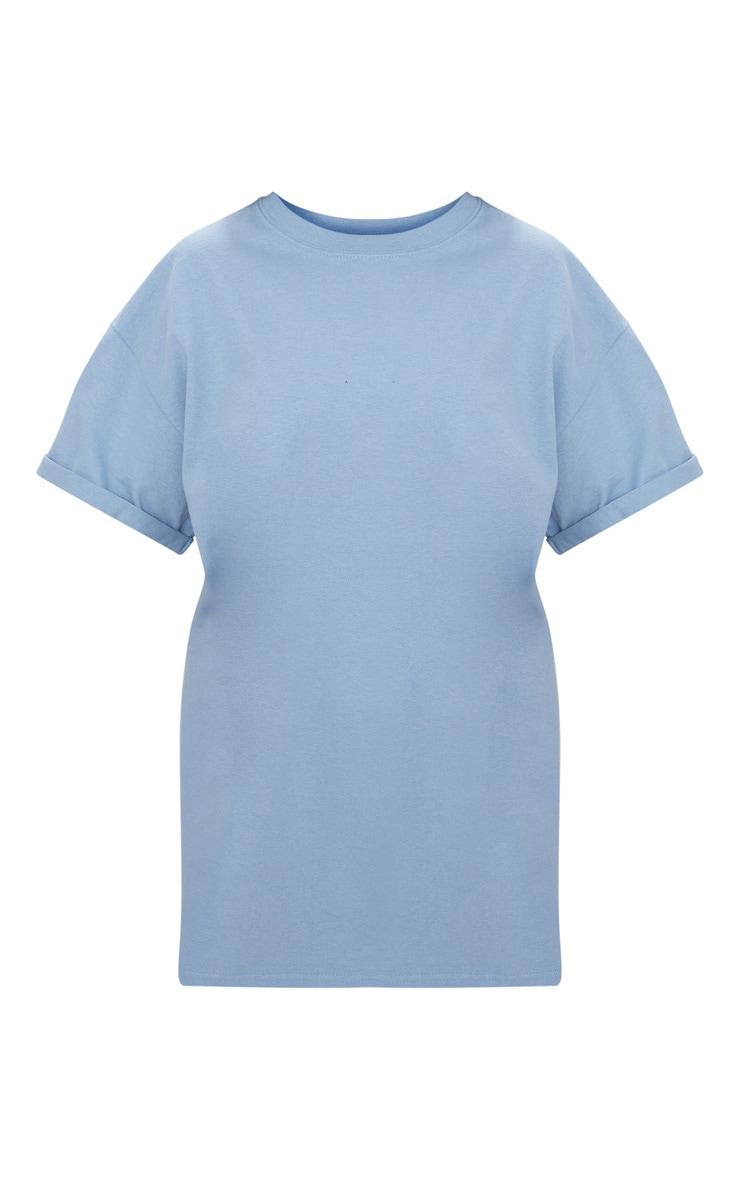 Dusky Blue Oversized Boyfriend T Shirt 3