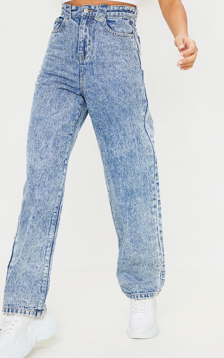 Acid Blue Wash Loose Fit Jeans 2