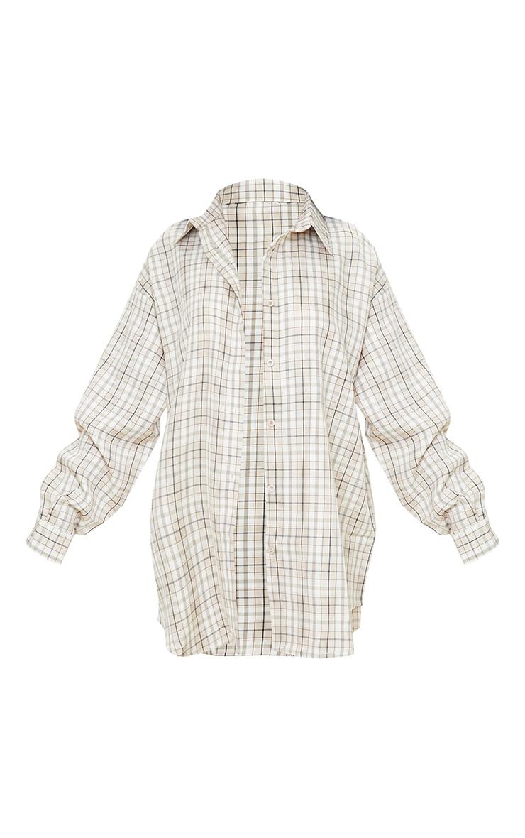 Petite Stone Oversized Longsleeve Checked Shirt 5