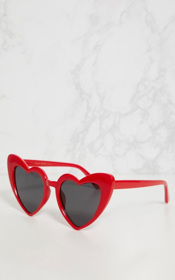 Red Heart Shape Sunglasses 3