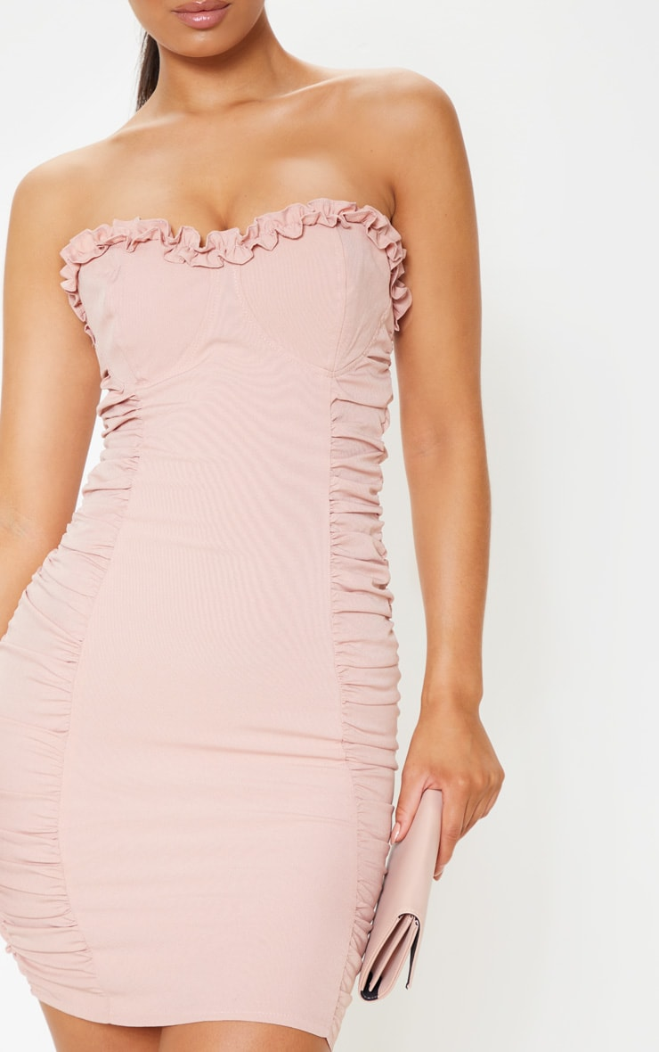 Rose Ruched Bodycon Dress 5