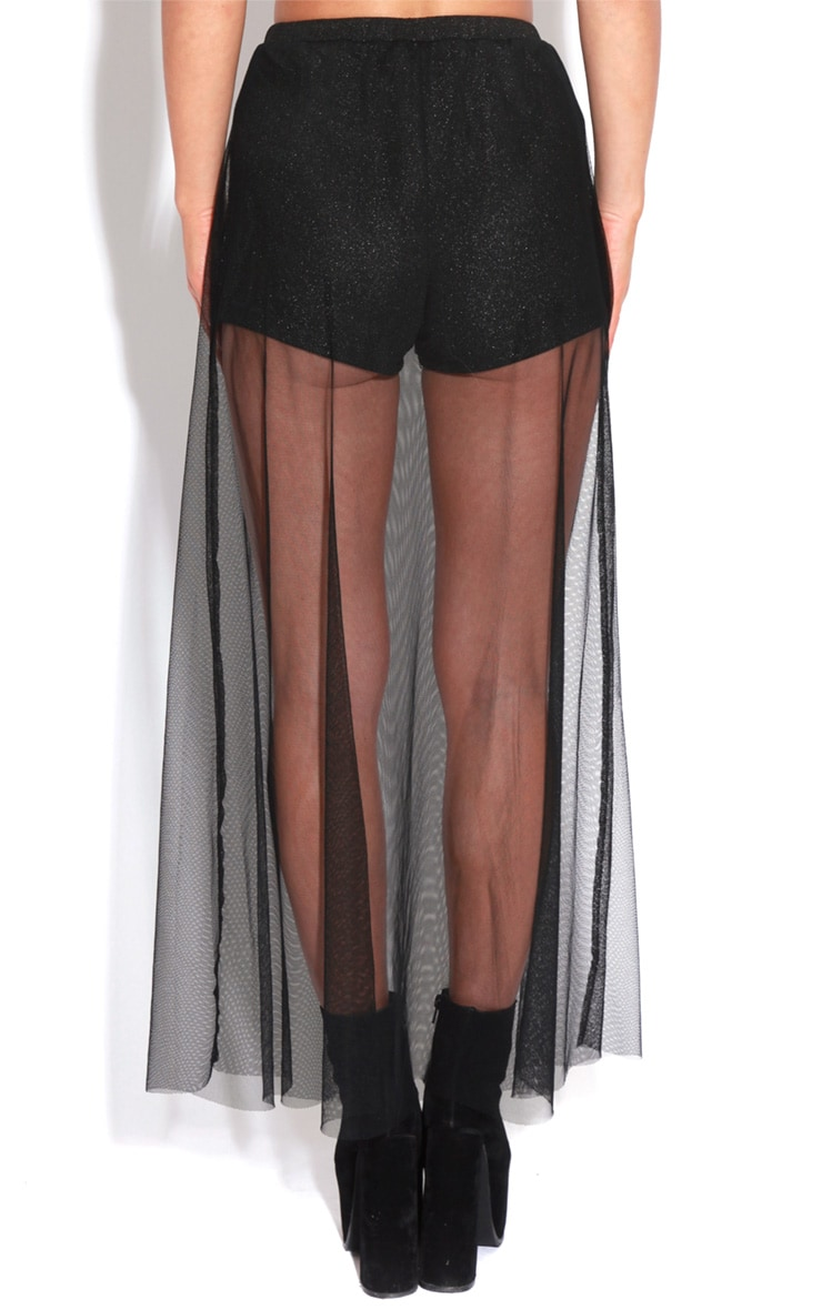 Faye Black Organza Maxi Skirt 3