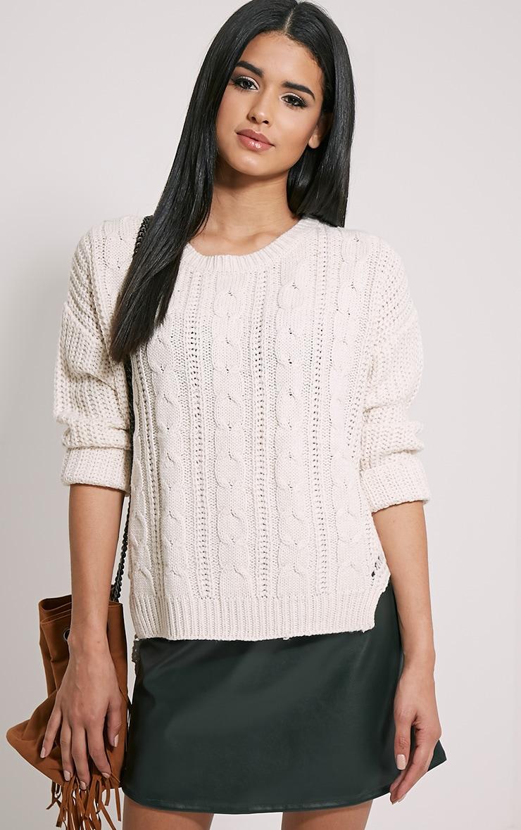 Jada Cream Knitted Jumper 1