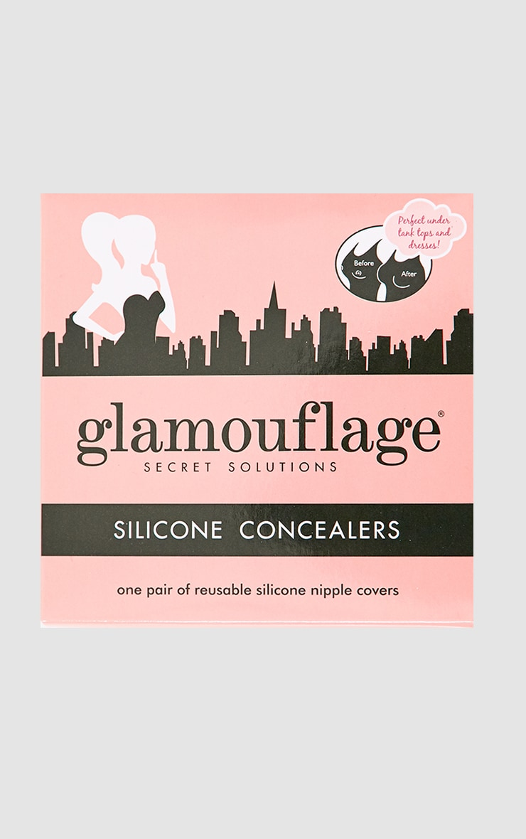 Glamouflage Nude Silicone Nipple Covers Lingerie -4488