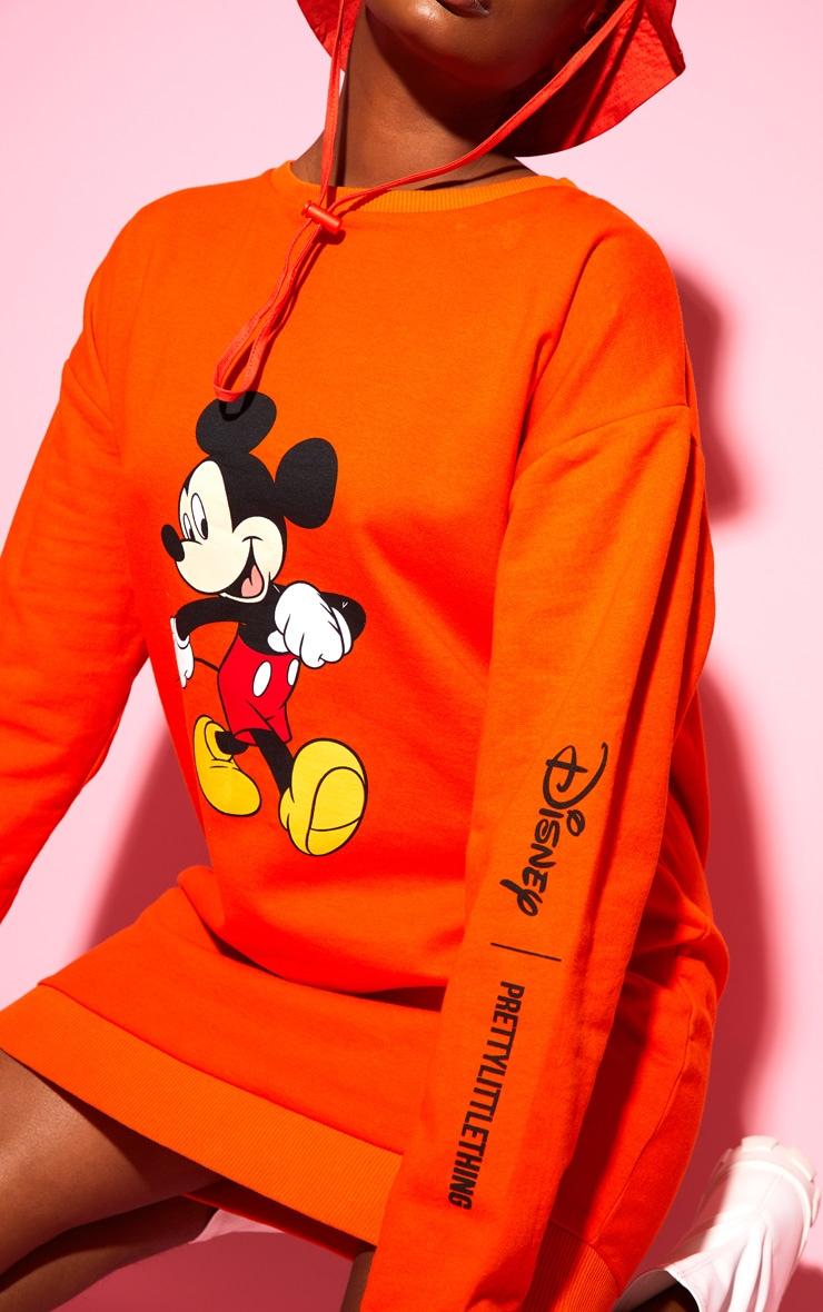 Orange Disney Mickey Sweater Dress 5
