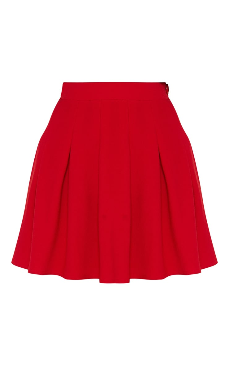 Red Pleated Tennis Skirt 3