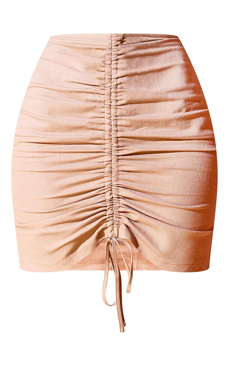 Stone Ruched Mini Skirt 7