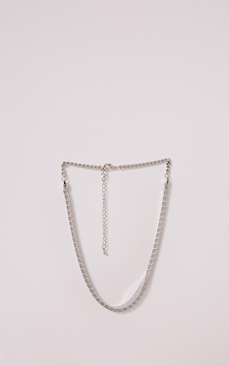 Klia Silver Chain Choker 4