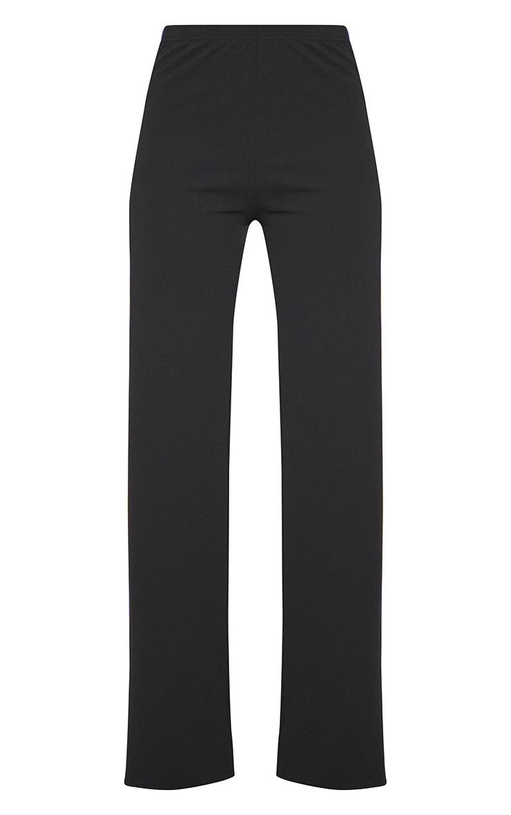 Black Scuba Side Stripe Tape Wide Leg Trouser 3