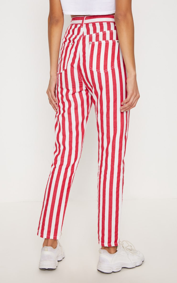 Red Stripe Leg Jeans  4