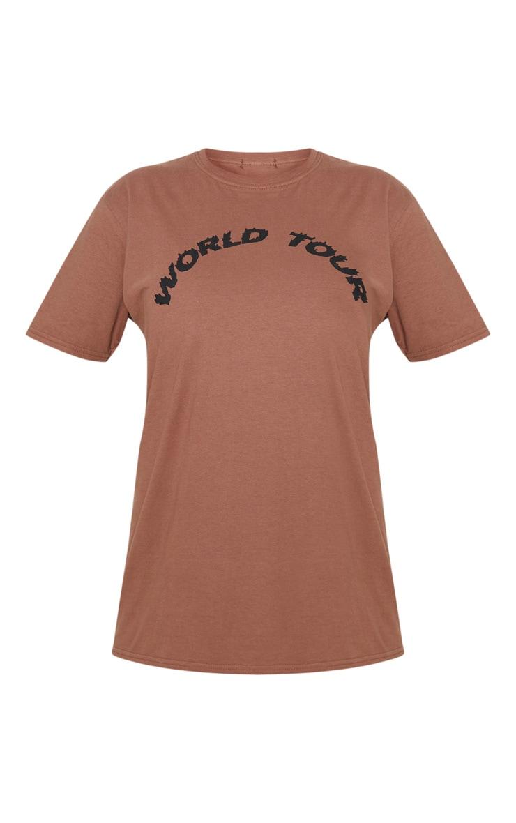 Mocha World Tour State Slogan T Shirt 3