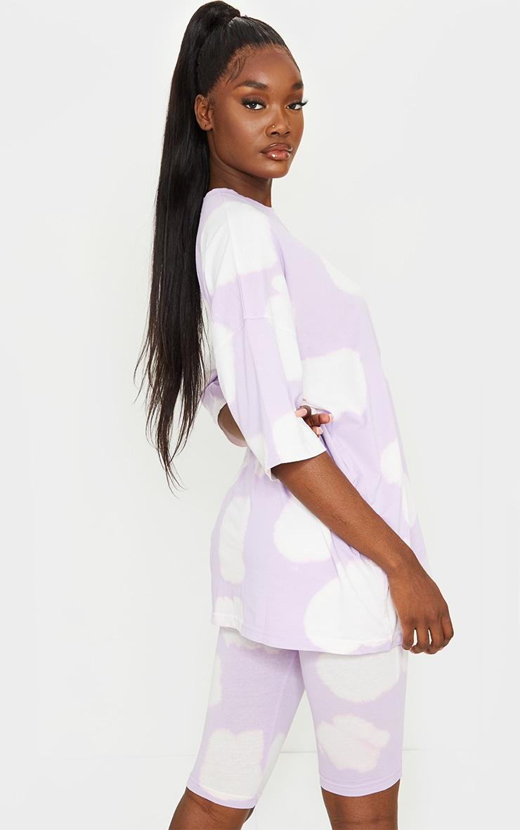 Tall Lilac Oversized Tie Dye T Shirt 2