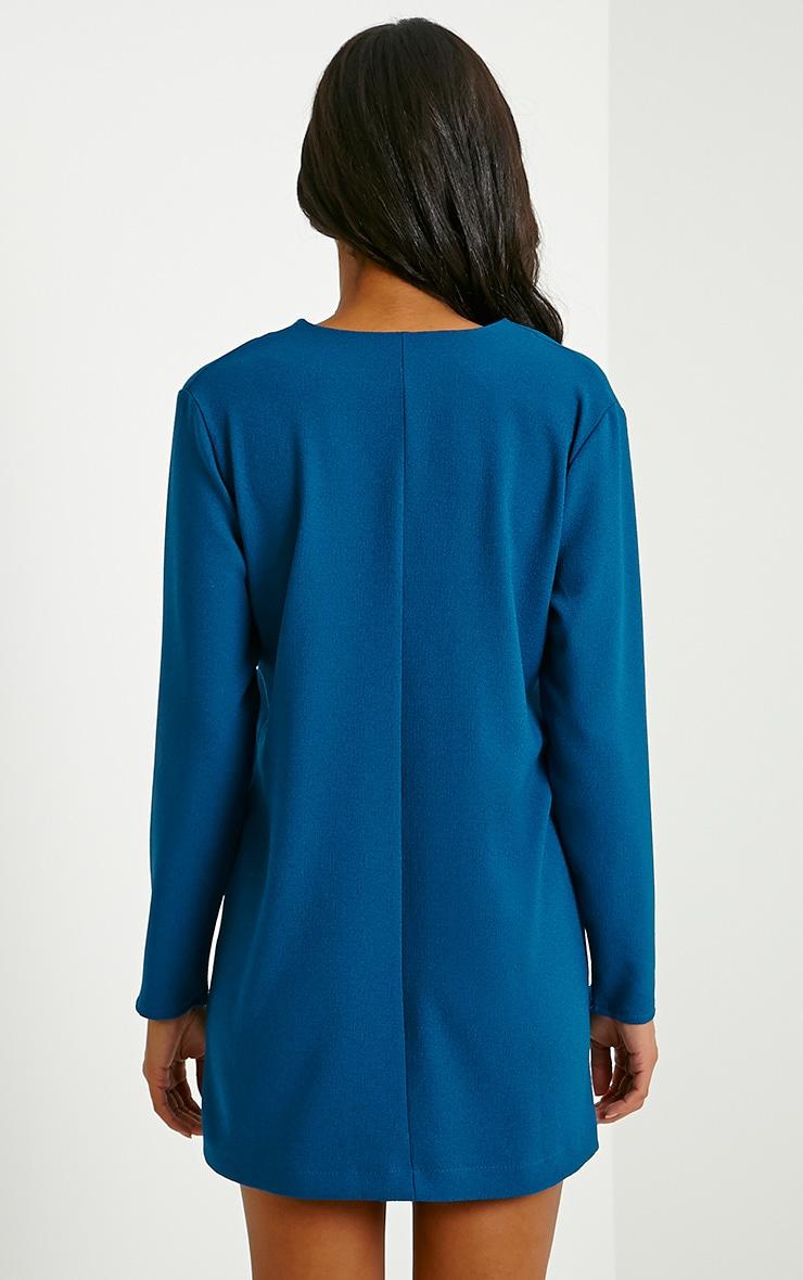 Jemima Teal Loose Fit Blazer Dress 2