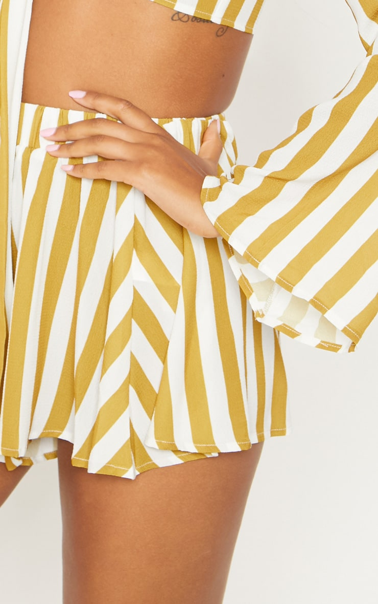 Mustard Stripe Floaty Shorts 6