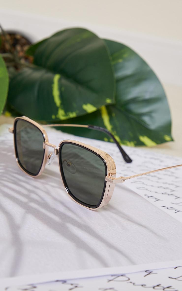 Black Double Frame Square Sunglasses 3