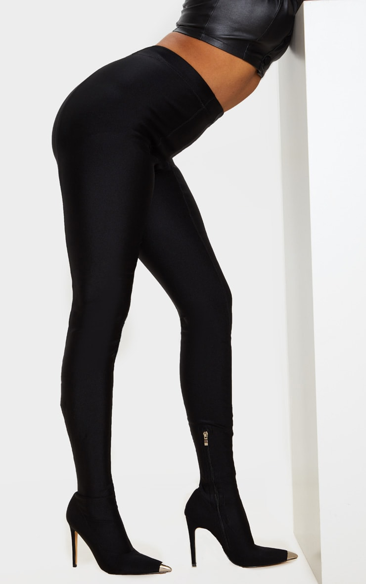 Black Point Toe Lycra Trouser Boot 2