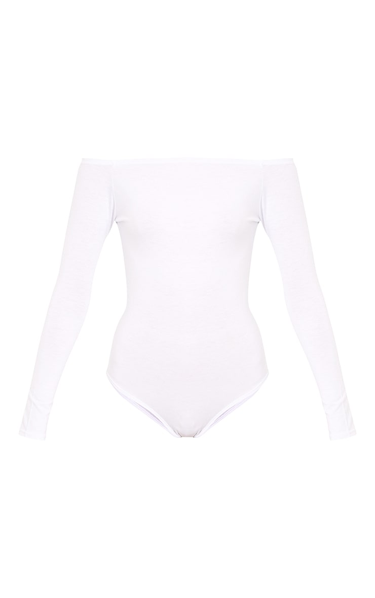 Basic Black & White Bardot Bodysuit 2 Pack  7