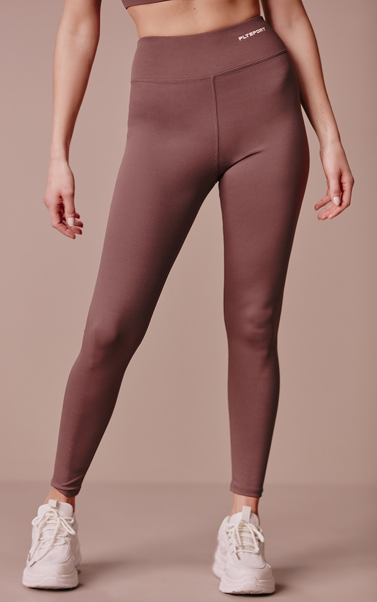PRETTYLITTLETHING Chocolate Sculpt Luxe Gym Leggings 2