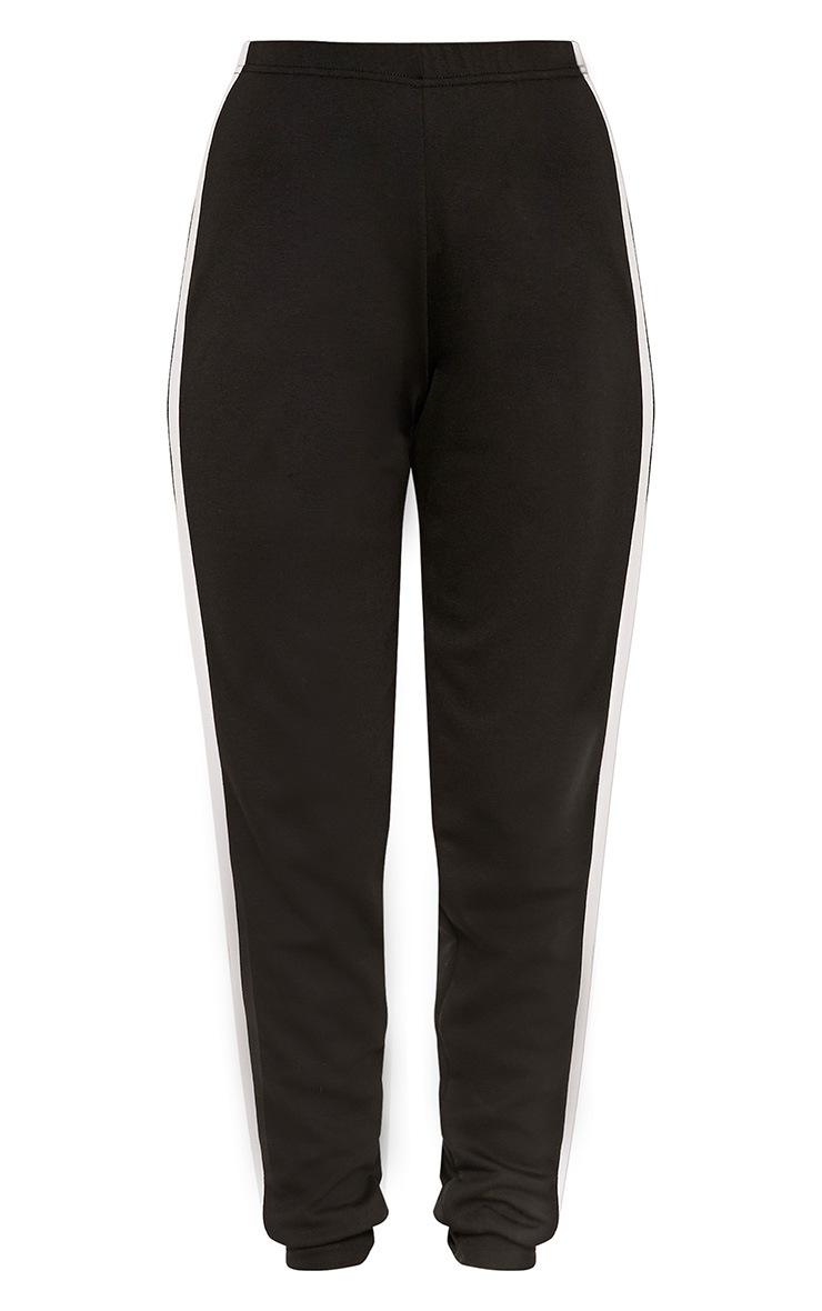 Petite Leonara  Black Side Stripe Joggers 3
