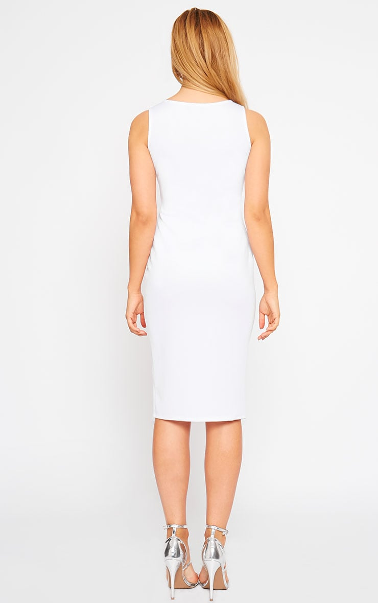 Holly White Thigh Split Midi Dress 2