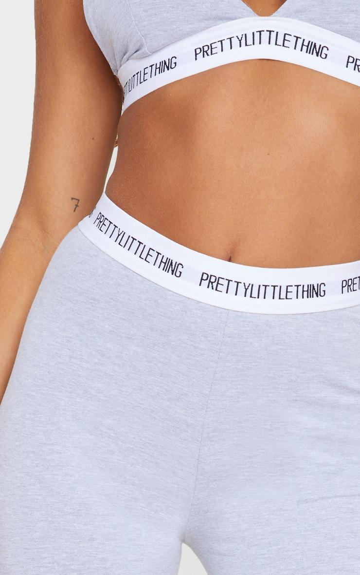 PRETTYLITTLETHING Grey Cotton High Waist Leggings 4