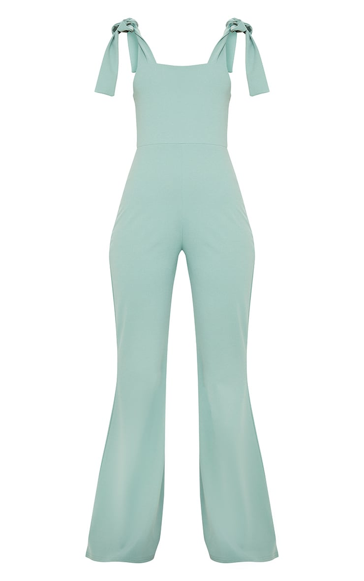 Mint Tie Strap Straight Neck Jumpsuit 5