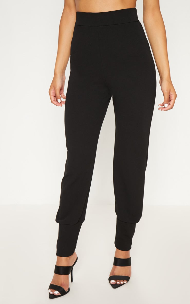 Black Deep Cuff Detail Trouser 2