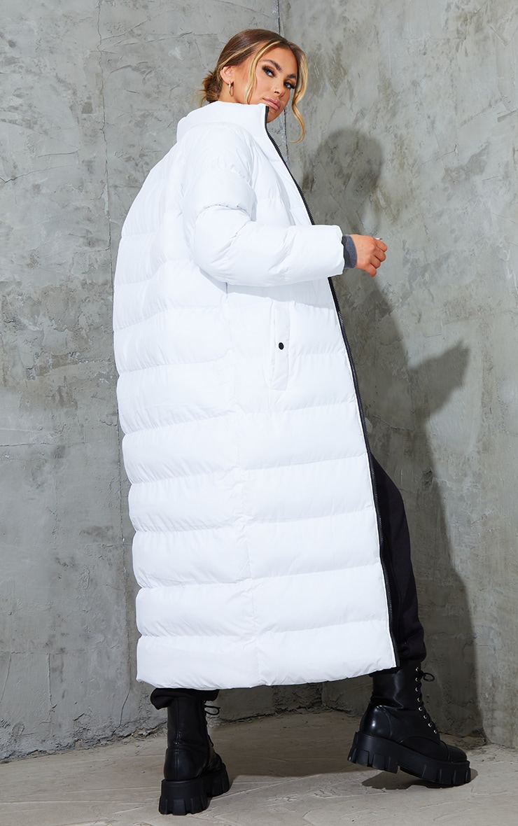 White Maxi Bubble Puffer Jacket 2