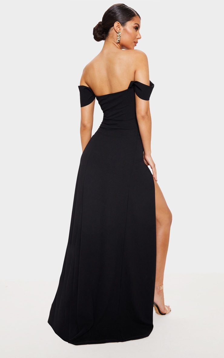Black Cup Detail Maxi Dress 2