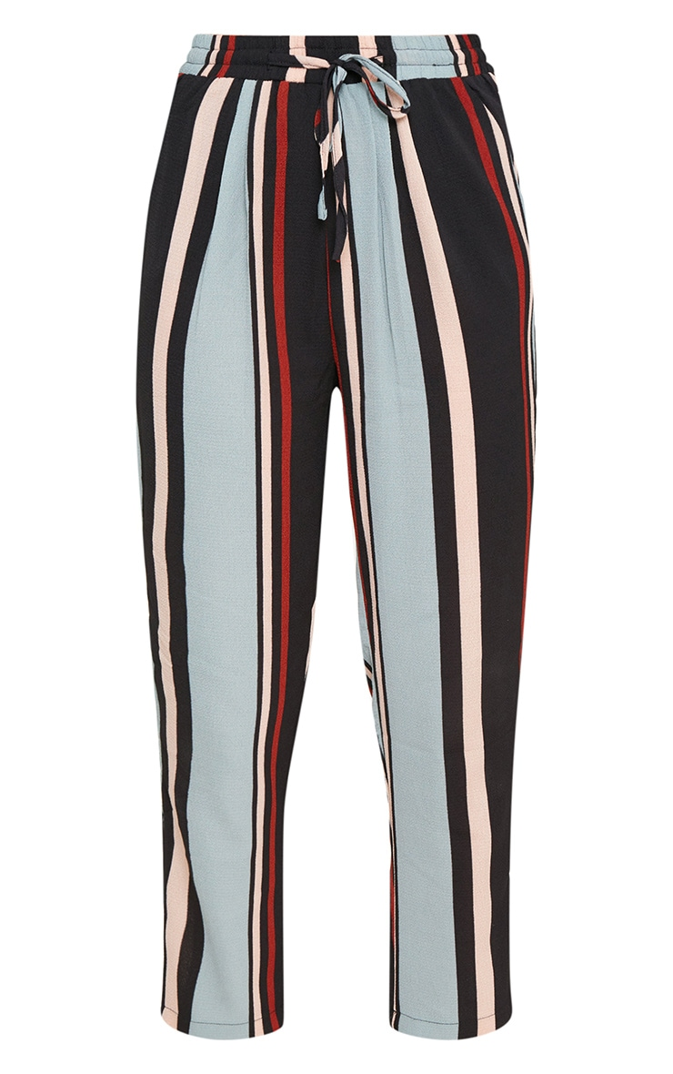 Blue Stripe Casual Trousers 3
