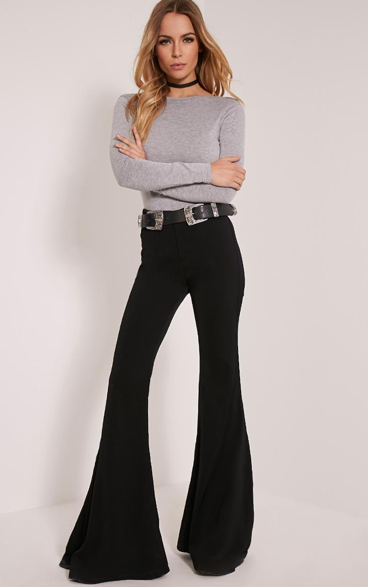 Debra Grey V Back Jersey Bodysuit 2