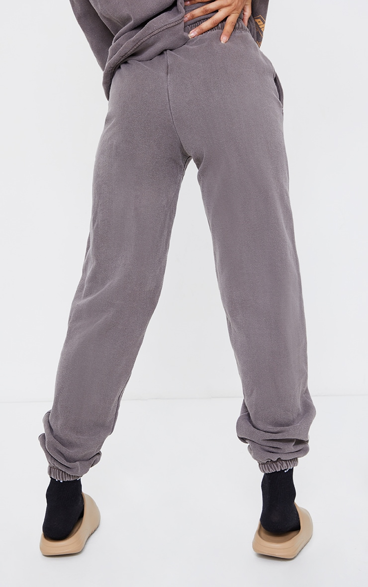 Chocolate Tonal Oversized Sports Joggers 3