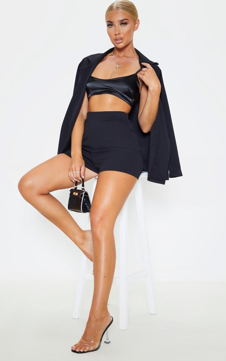 Black Suit Shorts 1