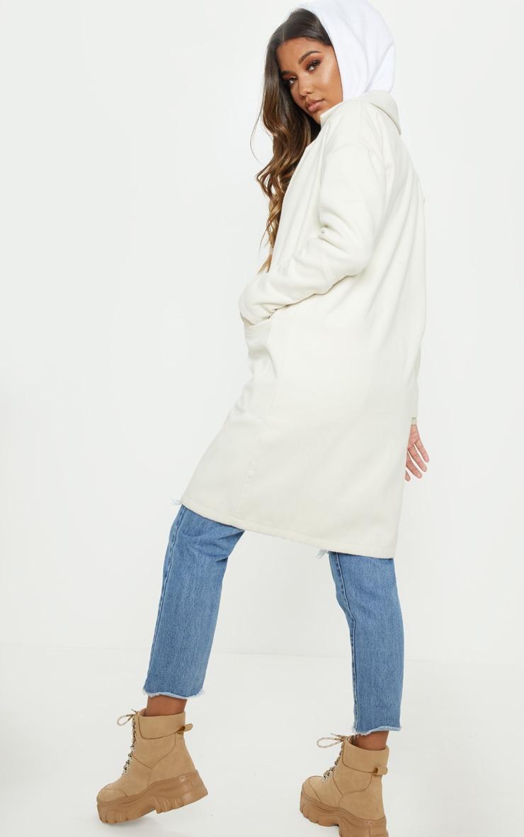 Cream Midi Coat  2