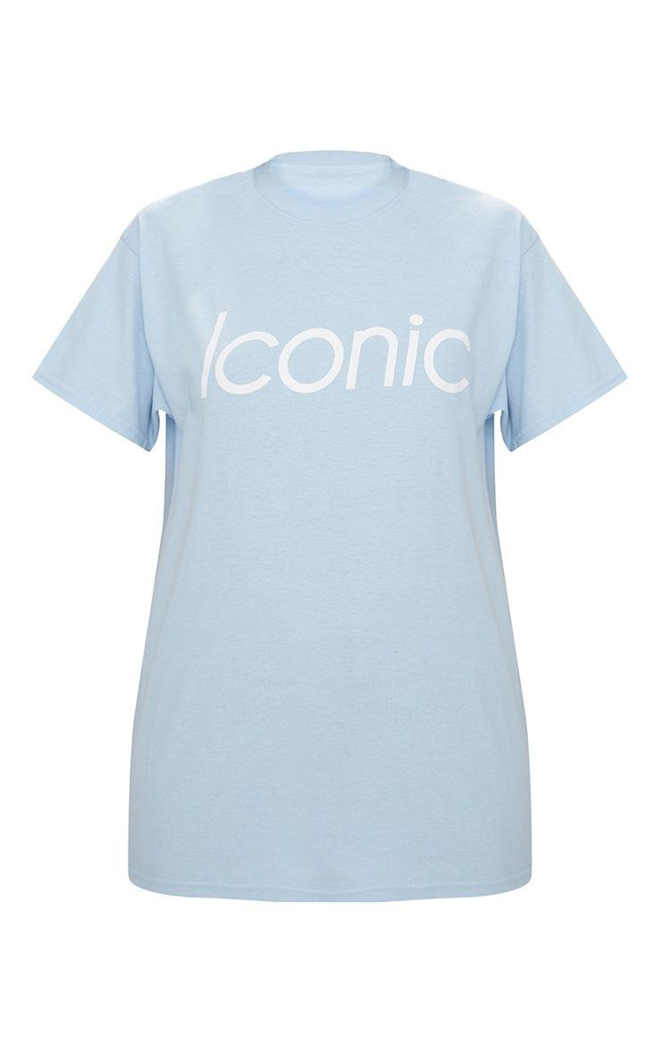 Baby Blue Iconic Slogan T Shirt 4