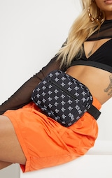 PRETTYLITTLETHING Black Logo Bum Bag 3