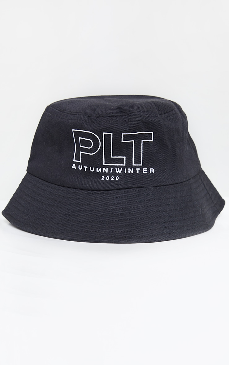 PRETTYLITTLETHING Embroidered Black Bucket Hat 2