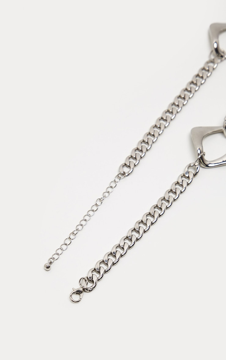Silver Chunky Link Chain Necklace 4