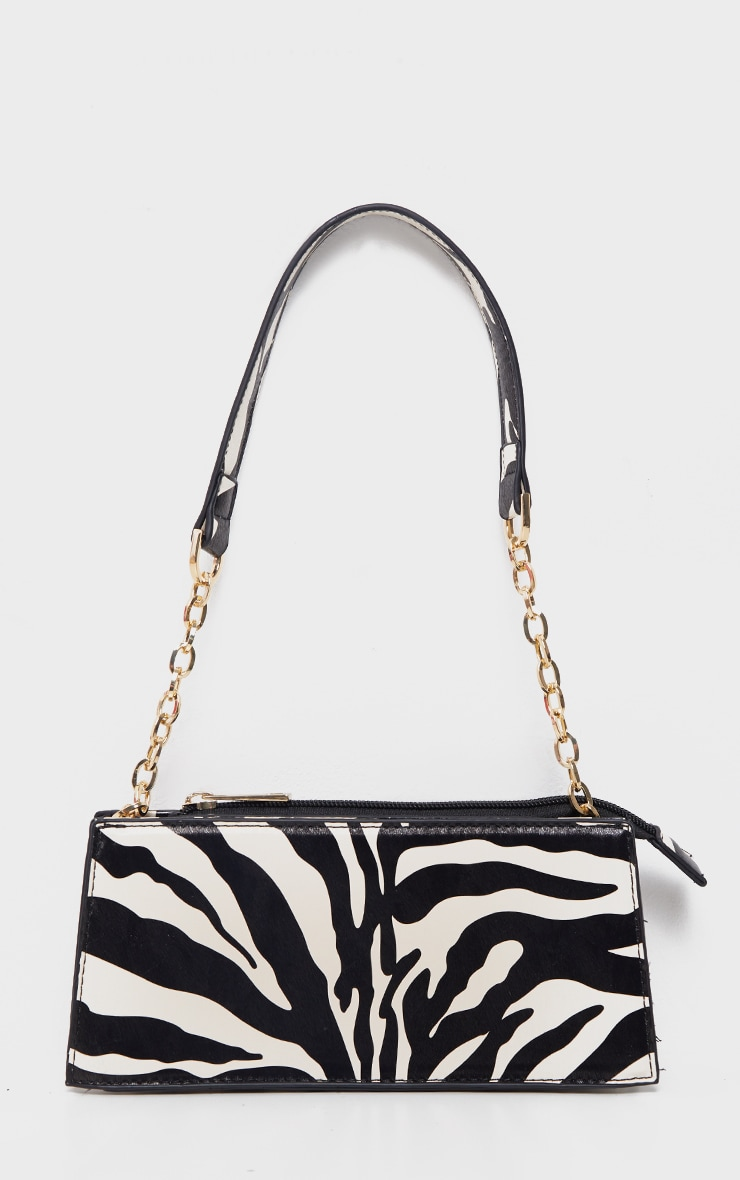 Zebra Chain Handle 90s Shoulder Bag 2