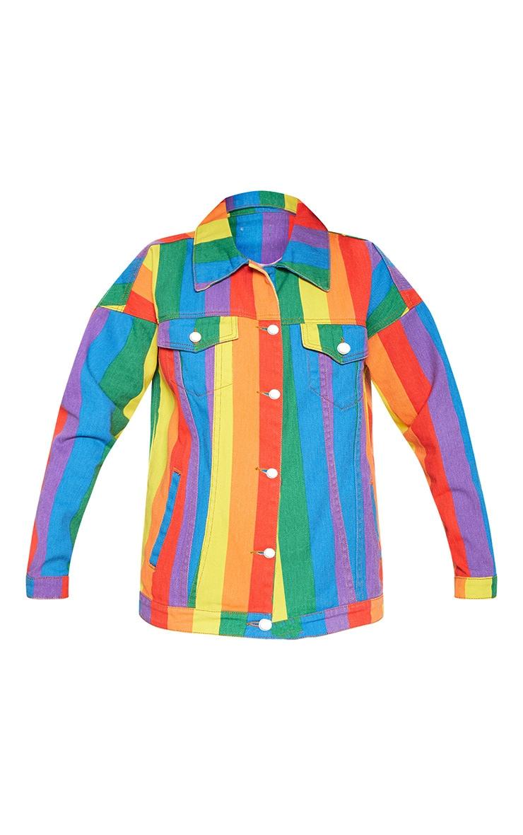 Multi Stripe Denim Jacket  4