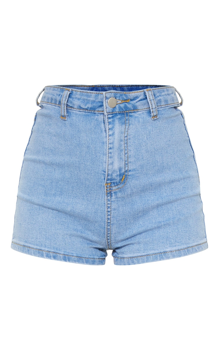 Petite Light Wash Denim Disco Short 6