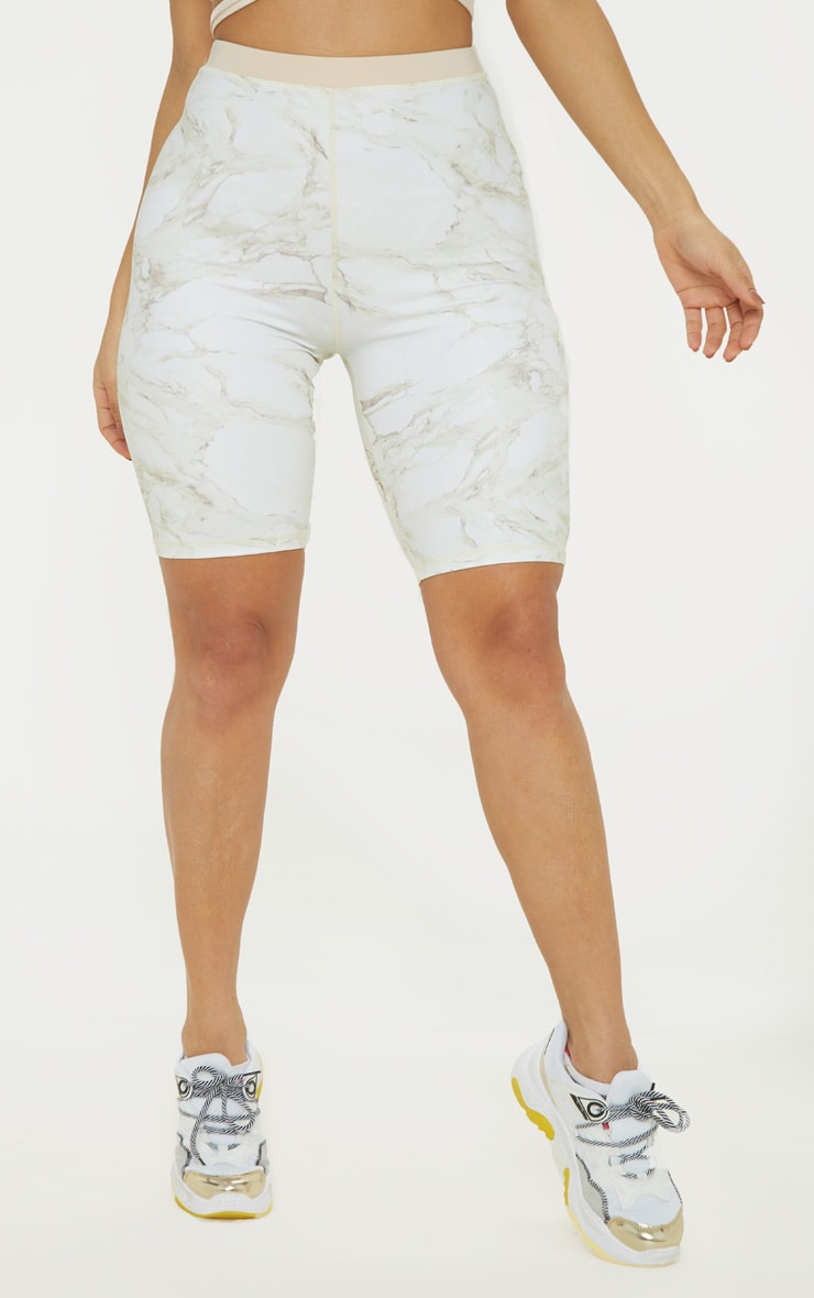 Stone Marble Contrast Waist Cycle Short 2