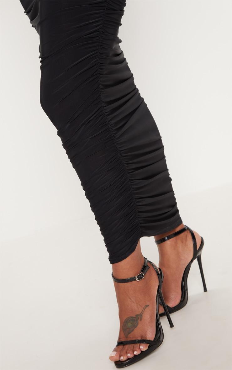 Shape Black Slinky Ruched Midaxi Skirt 5