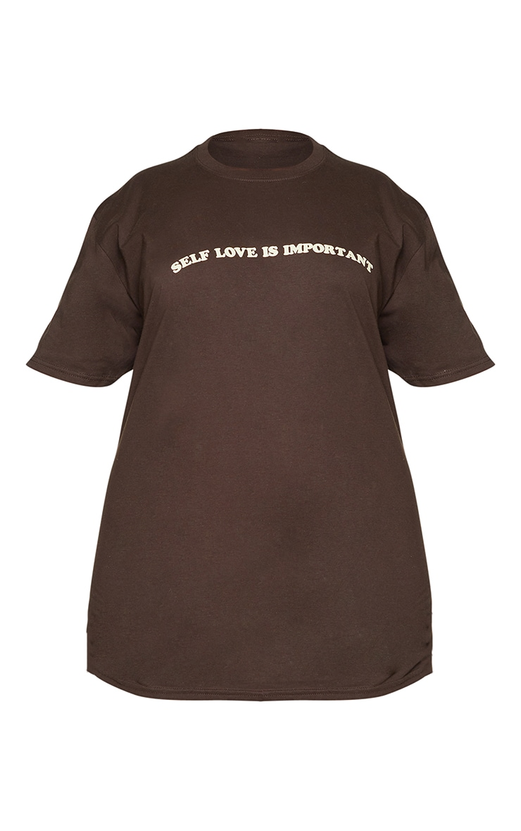 Plus Self Love Is Important Chocolate T-Shirt 5