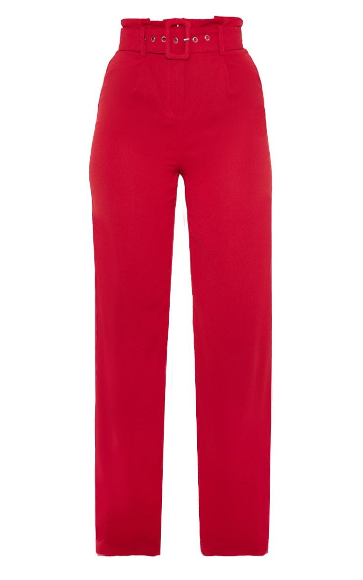 Scarlet Lightweight Woven Belted Wide Leg Trouser 3