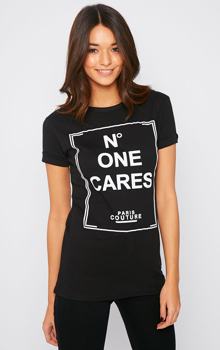 Sandie Black No1 Cares Slogan Tee 1